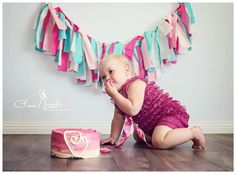 Cobie's cupcakes smash cake  Pink ombré