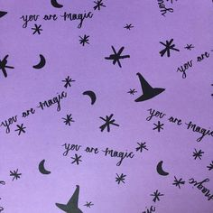 It's true you are magic!  #youaremagic #magic #witches #Halloween #purple #pattern #illustration #glitteryhandsbox #craftlife #witchcraft #halloweenpattern #halloween2016