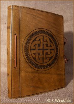 A5 LEATHER CELTIC CIRCLE KNOT JOURNAL, NOTEBOOK, BINDER