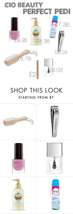 """""""Perfect Pedicure"""" by hollynagle on Polyvore featuring Urban Spa, Sephora Collection, Max Factor, Nails Inc., Veet, Topshop and 10dollarbeauty"""