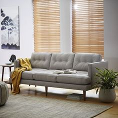 Shop modern living room furniture at west elm and create a chic living room space. Our living room furniture collection features modern and sophisticated designs. 1950s Furniture, Mid Century Modern Furniture, Furniture Design, Mid Century Modern Couch, Living Room Sets, Living Room Furniture, Living Room Decor, West Elm, Hamilton Sofa