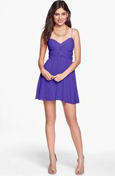 Hailey Logan Cutout Chiffon Dress #purple #SemiFormal Get 5% cash back: http://www.studentrate.com/lakeforest/get-lakeforest-student-deals/Nordstrom-Student-Discounts--/0
