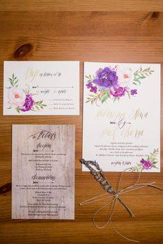 Watercolor stationery suite detail  | Pennsylvania Wedding Photography Ashley Gerrity Photography