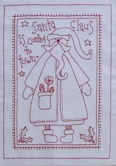 zentangle santa claus | Santa Claus from It´s a Redwork Christmas on Rosalie Quinlan Designs
