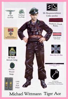 Hauptsturmfuhrer Michael Wittmann 1st SS Division Leibstandarte SS Adolf Hitler 101st SS Heavy Panzer Battalion