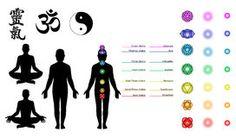 Reiki, Chakras, Yoga Symbols Stock Vector - Illustration of energy, body: 5800782 New Age, Was Ist Reiki, Chakra Symbole, Chakras Reiki, Reiki Classes, Yoga Symbols, Workshop, Lotus Pose, Happiness