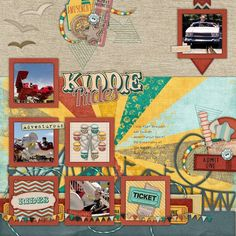 Kiddie Rides- Kit: Midway from Wendy Tunison Designs and Keystone Scraps, Template from Memories by Digital Design
