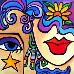Star Crossed By Fidostudio Painting by Tom Fedro - Fidostudio ...
