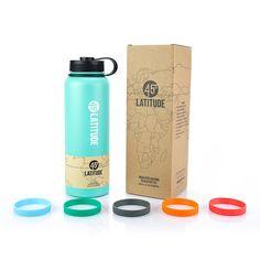 45 Degree Latitude 40 ounce Water Bottle - Celeste Green