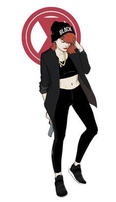 Urban Casual Black Widow