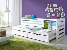 Charliee Captain Beds wooden bunk beds with mattresses