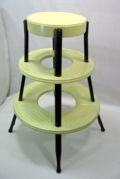 round-retro-metal-step-stool  This would be perfect for my son's home but he's 6'5' and can reach everything.