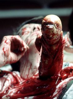 Alien (1979) - The infamous chest burster. - - Famous scenes from horror movies…