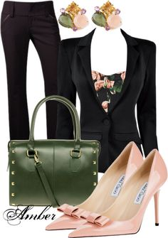 """""""Floral - Work outfit"""" by stay-at-home-mom on Polyvore"""