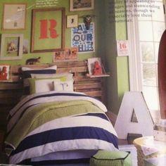 blue and green boy room | Boys room - blue, green & orange | Kids