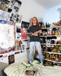 """©Adrienne Salinger,Karl B. 90s Teens in their Bedrooms. """"I never took any drugs or drank or smoked or anything like that. I've been a vegetarian for four years."""""""
