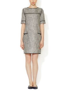 Short Sleeve Tweed Shift Dress by Ava & Aiden at Gilt