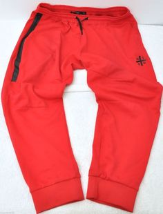 150849d7504a HUDSON Outerwear NYC Sweatpants Tight Cuffed Tech Fleece Jogger Red Size XL   Hudson  Sweatspants