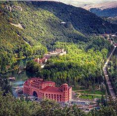 Nature of Jermuk spa city. Armenia.