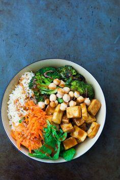 Peanut Buddha Bowl with Roasted Broccoli