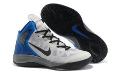 outlet store ead49 264ec Nike Zoom Hyperforce White Blue Black Nike Shoe Store, Nike Zoom, Baskets,  Nike