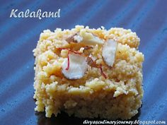 Divya's culinary journey: Kalakand - A quick version with microwave (using ricotta cheese)
