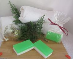 Christmas Soap Holiday Soap Green and White by TashaHusseyDesigns, $3.00