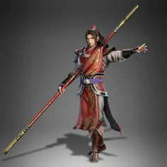 m Monk Asian Faction Staff monastery urban city Zhou yu's new design from dynasty warriors 9 Dynasty Warriors, Fantasy Weapons, Fantasy Warrior, Fantasy Rpg, Character Concept, Character Art, Concept Art, Character Design, Character Portraits