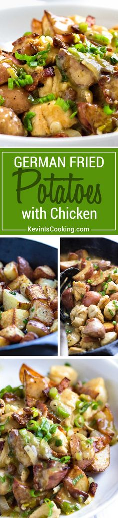A twist to the traditional German fried potato, this dish mixes a tangy sauce, rotisserie chicken and bacon for a quick and delicious dinner in minutes. Everyone loves it!