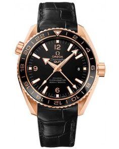 Replica Omega Seamaster Planet Ocean GMT Rose Gold 232.63.44.22.01.001
