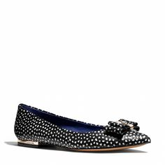 wendi flat, fashion, polka dots, style, classi ladi, flats, coaches, shoe, serious chic