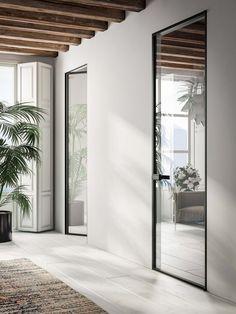 39 Best Modern Glass Door Designs Ideas For Your Home - door - Door Design Bedroom Door Design, Door Design Interior, Bedroom Doors, Interior Barn Doors, Design Interiors, Interior Modern, Scandinavian Interior, Interior Paint, Interior Architecture