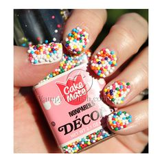 Candy Coated Nails ❤ liked on Polyvore featuring beauty products, nail care, nail polish, nails, makeup, beauty and uñas