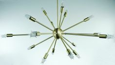 Sputnik Atomic Lamp Mid Century Light Chandelier Brushed Brass 50's Modern Eames | eBay