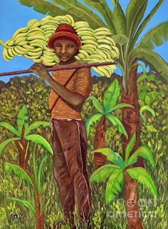The Banana Picker by Caroline Street Figurative Art, Art For Sale, Amazing Art, Original Art, Faces, Banana, Wall Art, Street, Painting