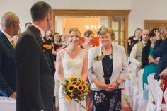 KMR Bride Carolyn wearing her bespoke wedding gown and KMR Sylvia headpiece. Carolyn and Paul September 2014. Photo courtesy of Ben West Photography.
