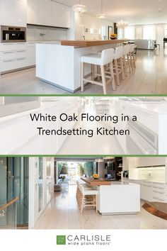 White Oak flooring can be casual, formal, or contemporary. Discover how our floor's versatile nature takes the space to new heights in this trendsetting home. Find your floor inspiration here. #whiteoakflooring #versatile #homedesign Hardwood Floors In Kitchen, Oak Flooring, Wide Plank Flooring, Kitchen Flooring, White Oak Floors, House Design, Contemporary, Space, Formal