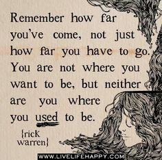 Great advice - keep looking forward
