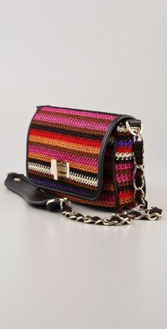 M Missoni Crochet Knit Bag in Multicolor (multi) | Lyst