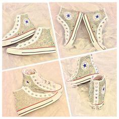 Rhinestone Converse Bride Custom Bedazzled Converse Shoes Quinceñera
