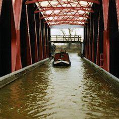Barton 'Tank' across the Manchester Ship Canal.