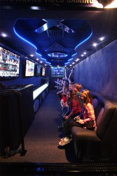 fun party games | mobile video game truck... I had a cousin who did this for her son once for a birthday.. it was a big hit.. I would love to do this sometime for the boys birthday!