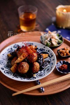 「筍と肉団子のオイスターソース炒め」 - 花ヲツマミニ