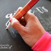 DIY Chalkboard Art {get perfect lettering every time} - Sincerely Sara D
