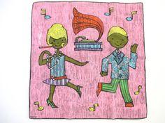 Vintage Flapper Handkerchief Dancing Dessin Depose at NeatoKeen