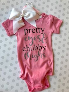 Pretty Eyes & Chubby Thighs Bodysuit | The Preppy Pair