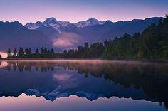 Les plus beaux lacs du Monde - Lake Matheson - Nouvelle Zélande