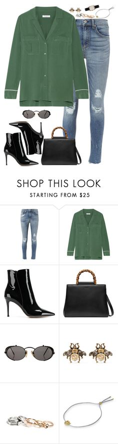"""""""Sin título #2810"""" by namelessale ❤ liked on Polyvore featuring rag & bone, Equipment, Gianvito Rossi, Gucci, Jean-Paul Gaultier, GUESS, Ruifier and Chanel"""