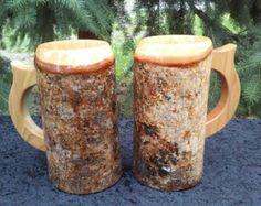 Wooden Beer Mug, Wood Mug, Beer Mugs, Wood Turning Projects, Drip Dry, Mugs Set, Wooden Handles, Vikings, Medieval
