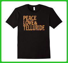 Mens Awesome Retro 1960s Peace Love Telluride Colorado T Shirt XL Black - Retro shirts (*Amazon Partner-Link)